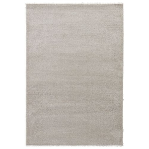 """Delta Solid White / Gray Area Rug (5'3""""  x  7'6"""")"""
