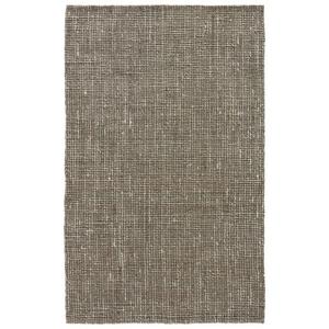 Cambridge Natural Solid Tan / White Area Rug (5'  x  8')