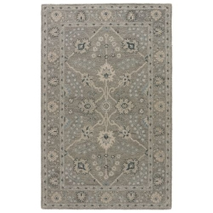 Sundamar Handmade Floral Gray / Blue Area Rug (5'  x  8')