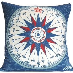 Mariner'S Compass Nautical Pillow