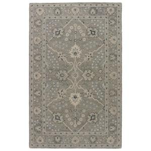 Sundamar Handmade Floral Gray / Blue Area Rug (8'  x  11')