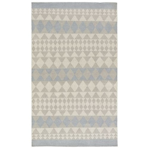 Tibi Indoor / Outdoor Geometric Gray / Blue Area Rug (2'  x  3')
