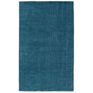 Limon Handmade Solid Teal Area Rug (8'  x  11')