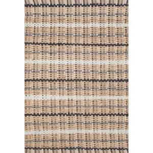 "Harringdon Natural Stripe Gray / Beige Runner Rug (2'6""  x  9')"