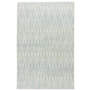 Tangled Handmade Geometric Cream / Gray Area Rug (2'  x  3')
