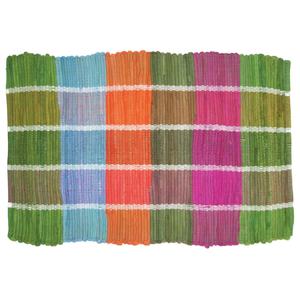 Colored Plaid Doormat
