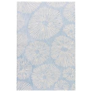 Stratus Handmade Abstract Blue / Cream Area Rug (2'  x  3')