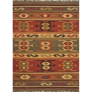 "Thebes Handmade Geometric Multicolor Runner Rug (2'6""  x  8')"