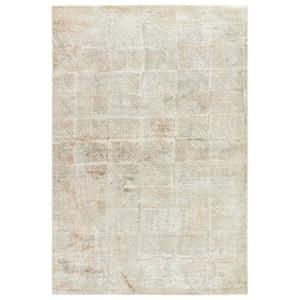 Valentino Geometric Gray / Tan Area Rug (2'  x  3')