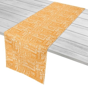 """Beach Vacation Words Table Runner - 16""""X72"""""""
