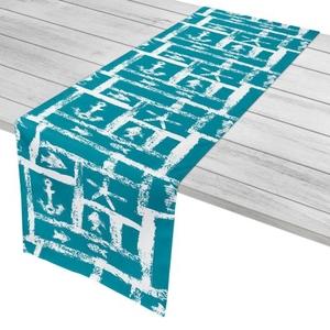 "Ocean Squares Table Runner - 16""X72"""