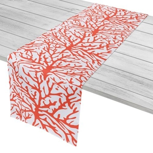"Coral Coral Table Runner - 16""X90"""