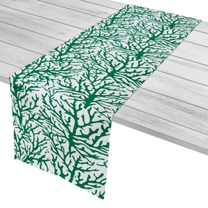 """Coral Green Table Runner - 16""""X72"""""""