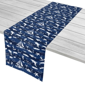 """Blue Sea Mix Table Runner - 16""""X90"""""""