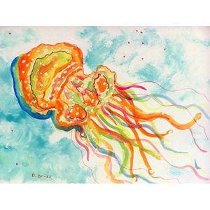 Orange Jellyfish Door Mat 30X50