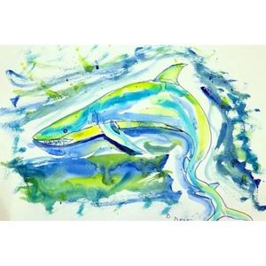 Green Shark Door Mat 18X26