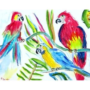 Three Parrots Door Mat 18X26