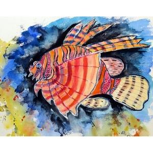 Betsy's Lion Fish Door Mat 30x50