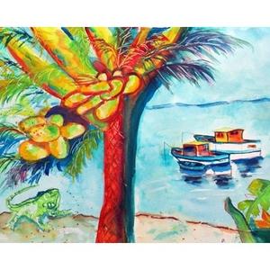 Cocoa Nuts & Boat Door Mat 18X26