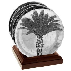 Isle of Palms 4 Piece Coaster Set with Caddy
