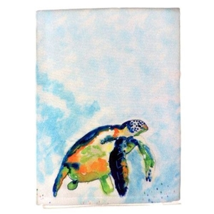 Blue Sea Turtle Guest Towel
