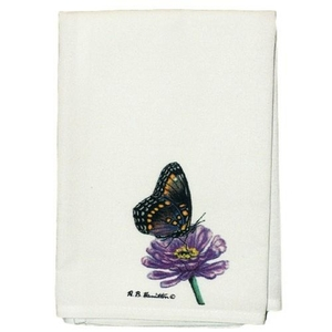 Red Spotted Purple Butterfly Guest Towel