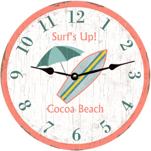 Surf'S Up Beach Clock