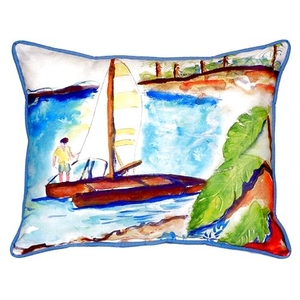 Catamaran Large Indoor/Outdoor Pillow 16X20