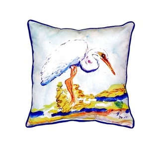 Betsy'S Egret Large Indoor/Outdoor Pillow 18X18