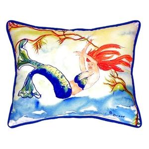 Resting Mermaid Large Indoor/Outdoor Pillow 16X20