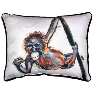 Betsy'S Monkey Large Indoor/Outdoor Pillow 16X20