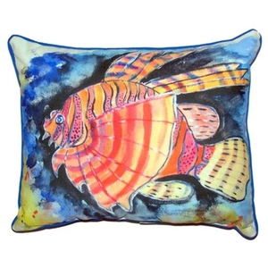 Betsy'S Lion Fish Large Indoor/Outdoor Pillow 16X20