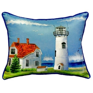 Chatham Ma Lighthouse Large Indoor/Outdoor Pillow 18X18