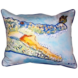 Croc & Butterfly Large Indoor/Outdoor Pillow 16X20