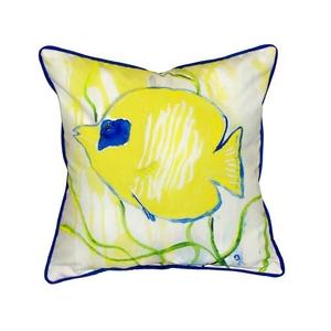 Yellow Tang Large Indoor/Outdoor Pillow 18X18