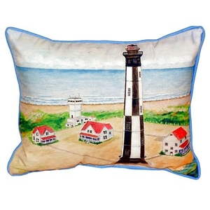 Cape Henry Lighthouse Large Indoor/Outdoor Pillow 16X20