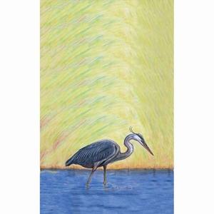 Blue Heron Kitchen Towel