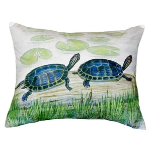 Two Turtles No Cord Pillow 16X20