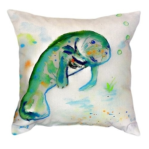 Betsy'S Manatee No Cord Pillow 18X18