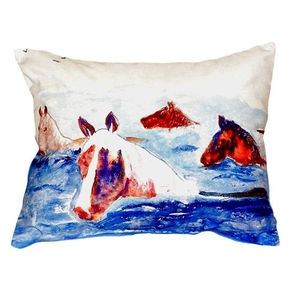 Chincoteague Ponies Pillow 16X20