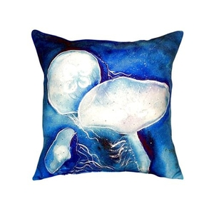 Blue Jellyfish No Cord Pillow 18X18