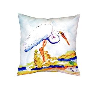 Betsy'S Egret No Cord Pillow 18X18