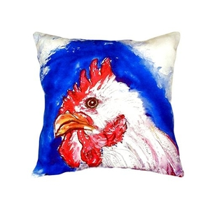 Rooster Head No Cord Pillow 18X18