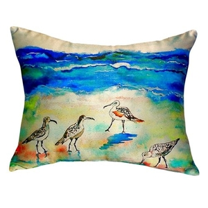 Betsy'S Sandpipers No Cord Pillow 16X20