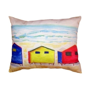Beach Bungalows No Cord Pillow 16X20