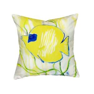 Yellow Tang No Cord Pillow 18X18