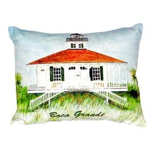 Boca Grande Lighthouse No Cord Pillow  16X20
