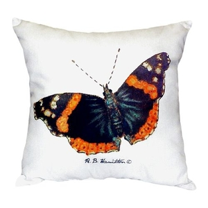 Red Admiral Butterfly No Cord Pillow 18X18