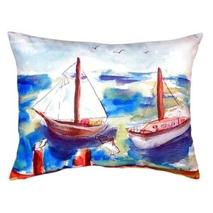 Two Sailboats No Cord Pillow 16X20