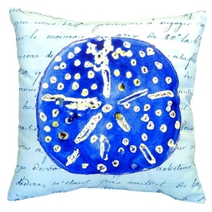 Blue Sand Dollar No Cord Pillow 18X18
